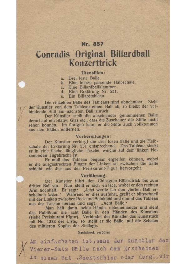 Conradis Original Billardball Konzerttrick-thumbnail